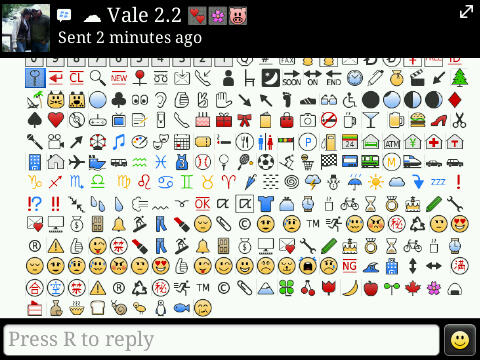 Nuevos iconos / emoticons Blackberry Messenger | OnyxStuff